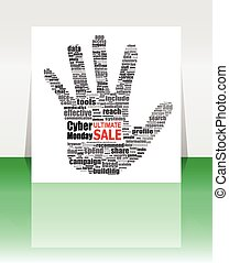 Cyber Monday banner design. Cyber monday sale concept. Vector illustration