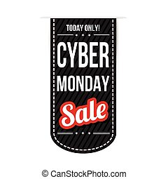 Cyber Monday banner design over a white background, vector...