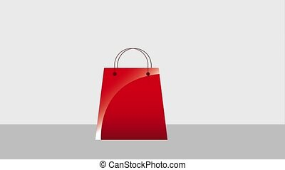 cyber monday card - coin dollar falling on shopping bag...