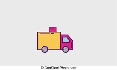 cyber monday concept - delivery truck download arrow cyber...