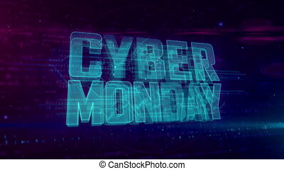 Cyber monday - Cyber Monday glowing hologram intro on...