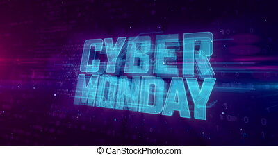Cyber monday - Cyber Monday glowing hologram intro on ...