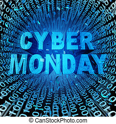 Cyber Monday - Cyber monday sale symbol and online sales...