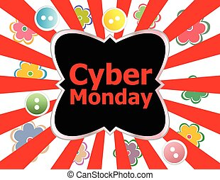 cyber monday deals design. creative concept vector background for Web and Mobile Applications, Illustration template design, business infographic, page, banner.