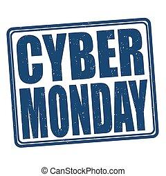 Cyber Monday grunge stamp