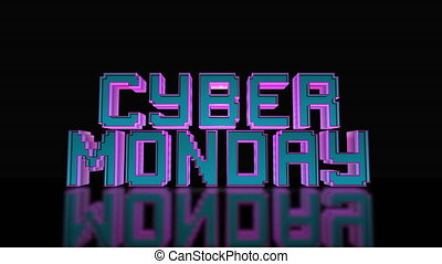 Cyber Monday Mega Sale 3D Text Looping Animation, Gaming And...