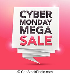 CYBER MONDAY MEGA-SALE, poster design element