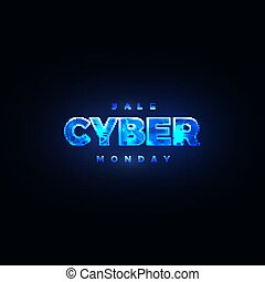 Cyber Monday. Promotional online sale event.
