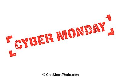 Cyber Monday rubber stamp
