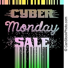 Cyber Monday Sale advertising poster