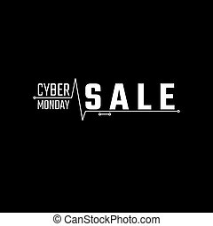 Cyber Monday Sale Banner. Cyber Monday Advertising Poster....