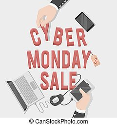 cyber monday sale illustration