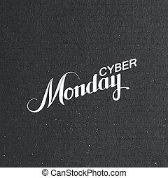 Cyber Monday Sale labe