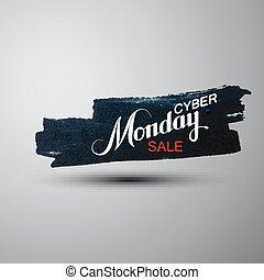 Cyber Monday Sale label