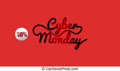 cyber monday sale - red bakcground sale with discounts cyber...