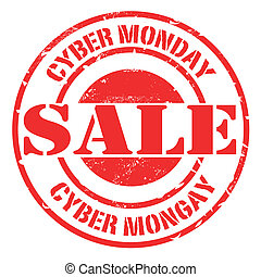 cyber monday sale stamp