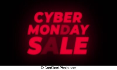 Cyber Monday Sale Text Flickering Display Promotional Loop....