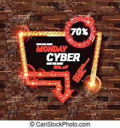 Cyber Monday Sale. Vector illustration