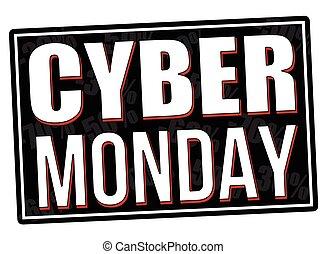 Cyber Monday stamp