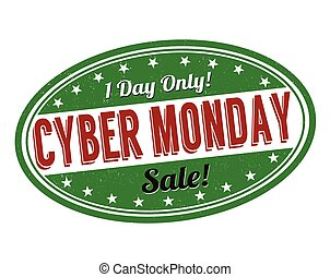 Cyber Monday stamp - Cyber Monday grunge rubber stamp on ...