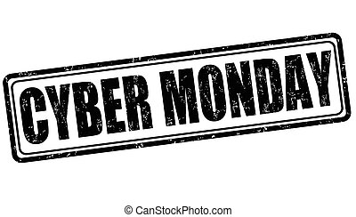Cyber Monday stamp - Cyber Monday grunge rubber stamp on...