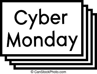 CYBER MONDAY stamp on white background