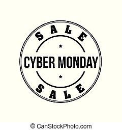 Cyber Monday vintage stamp