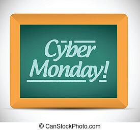cyber monday written message illustration design