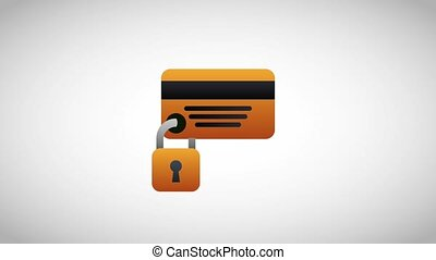 cyber security bank card payment animation