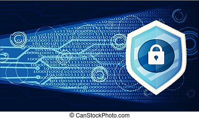 cyber security banner vector