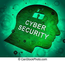 Cyber Security Business System Safeguard 3d Rendering