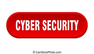 cyber security button. rounded sign on white background