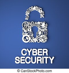 Cyber Security Concept. - Cyber Security Card Handmade from...