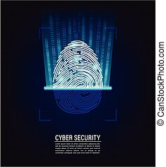 fingerprint scanning vector