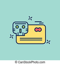 Cyber security creative colored icon with blue background