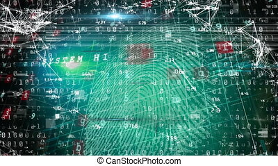 Cyber security data processing against networking of connections and night city traffic