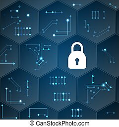 Cyber security data protection concept