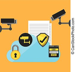 cyber security design - cyber security design, vector...