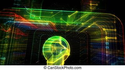 Cyber security futuristic animation