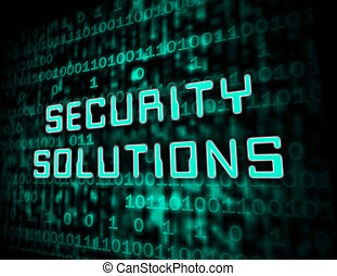 Cyber Security Solutions Threat Solved 3d Illustration