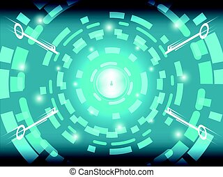 Cyber Security Technology Background Concept