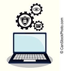 cyber security technology data gear work