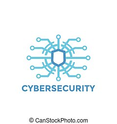 cyber security vector logo template