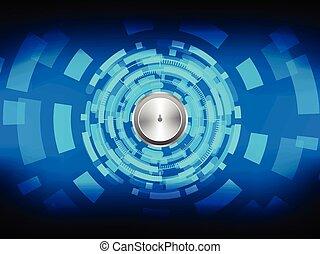 cyber, seguridad, concepto, en, abtract, tecnología, fondo., vector, ilustración