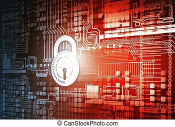 cyber, sicherheit, begriff, hintergrund
