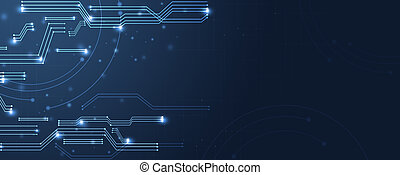 cyber technology communication banner
