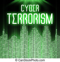 Cyber terrorism with matrix binary code technology