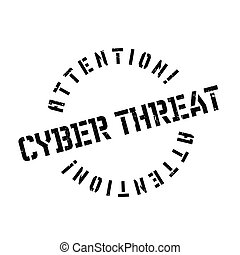 Cyber Threat rubber stamp. Grunge design with dust scratches...