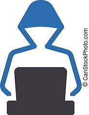 cyber vector glyph colour  icon