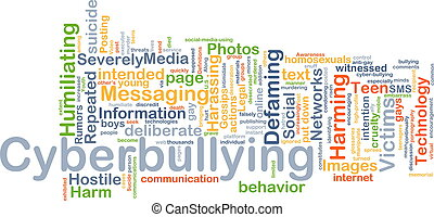 Cyberbullying background concept - Background concept...